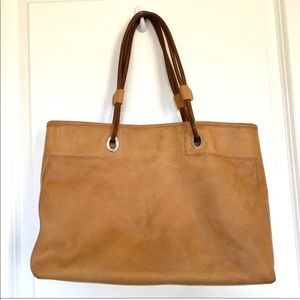 Vintage Tods Tote Smooth Leather Bag